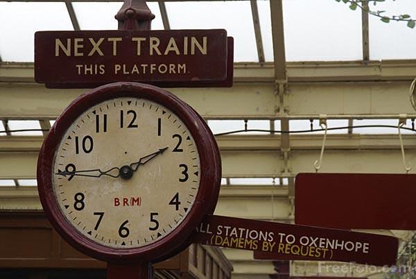 Ceas pe peron