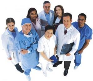 Grup de doctori